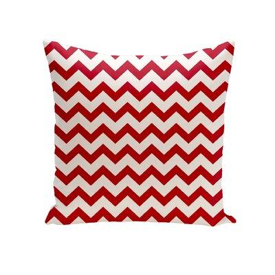 Milo Decorative Outdoor Pillow Color: Red, Size: 18 H x 18 W x 1 D