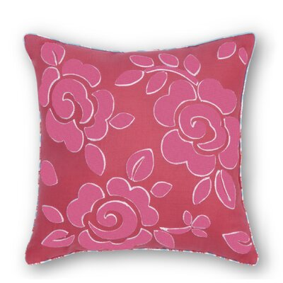 Lincoln Flower Embroidered Throw Pillow