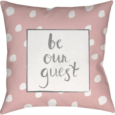 Gianna Indoor/OutdoorThrow Pillow Size: 18 H x 18 W x 4 D, Color: Pink