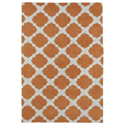 Marie Orange Area Rug Rug Size: Rectangle 8 x 10