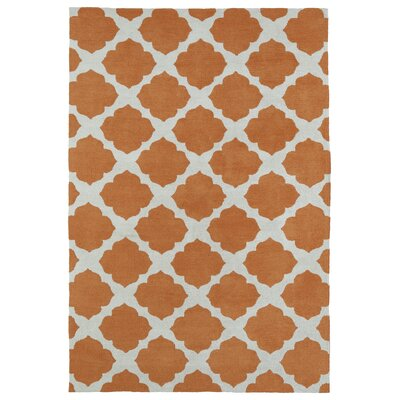 Marie Orange Area Rug Rug Size: 4 x 6