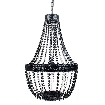 Senoia Beaded 1-Light Mini Pendant Color: Black Onyx