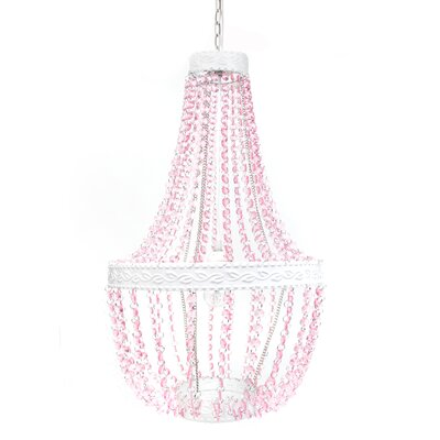 Caden Beaded 1-Light Mini Pendant Color: Pink Sapphire