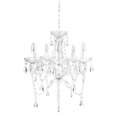 Senoia 5-Light Crystal Chandelier Color: White Diamond