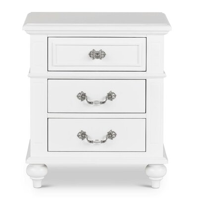 Lydia 3 Drawer Nightstand