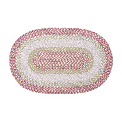 Tanya Tea Party Pink Outdoor Area Rug Rug Size: Oval 12 x 15