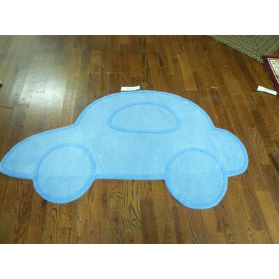 Latasha Hand-Tufted Blue Novelty Rug