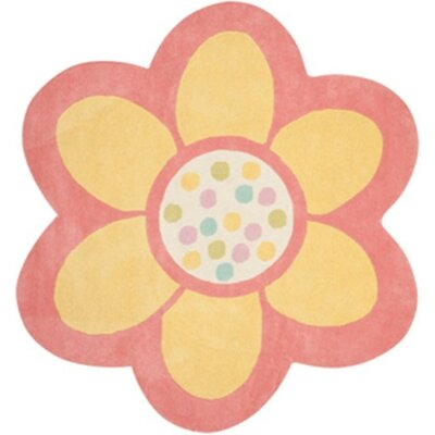 Dot Daisy Hand-Tufted Egg Yolk Area Rug Rug Size: Rectangle 4 x 44
