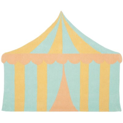 Big Top Hand-Tufted Sea Glass Area Rug Rug Size: 57 x 69
