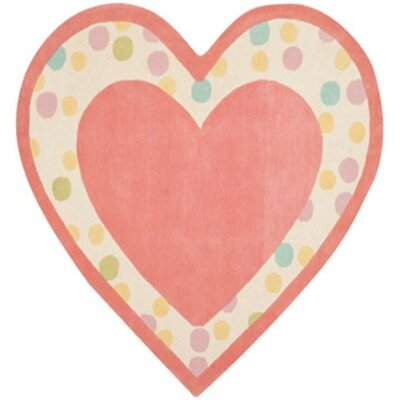 Sweet Heart Hand-Tufted Peony Area Rug Rug Size: Rectangle 53 x 6