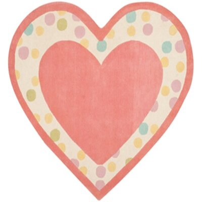 Sweet Heart Hand-Tufted Peony Area Rug Rug Size: 53 x 6