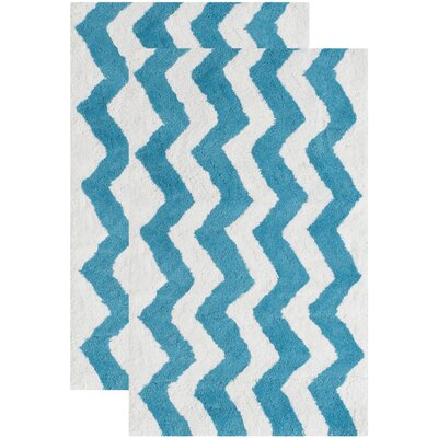 Wadley Hand-Tufted Arizona Blue Area Rug