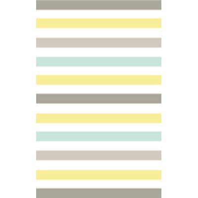 Circus Hand-Loomed Yellow/Blue/Gray Area Rug Rug Size: 5 x 8