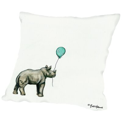 Martha Nursery Rhino Throw Pillow Size: 18 H x 18 W x 2 D