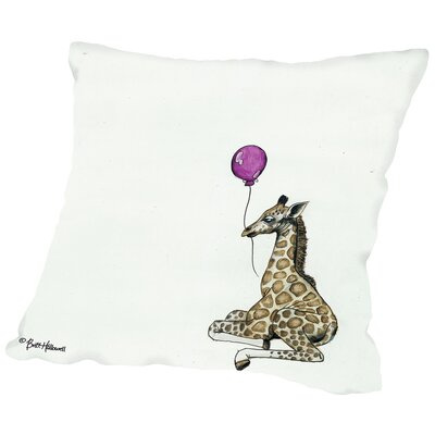 Martha Nursery Giraffe Throw Pillow Size: 16 H x 16 W x 2 D
