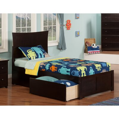 Maryanne Extra Long Twin Platform Bed Color: Espresso