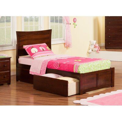 Maryanne Extra Long Twin Platform Bed Color: Antique Walnut