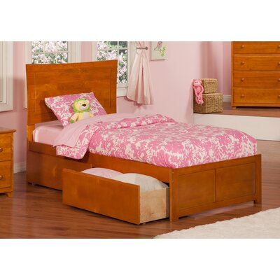 Maryanne Extra Long Twin Platform Bed Color: Caramel Latte