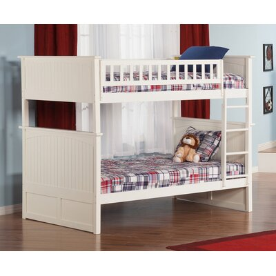 Maryellen Bunk Bed Size: Full over Full, Color: White