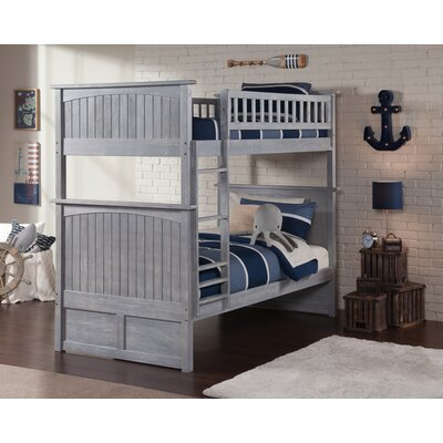 Maryellen Bunk Bed Configuration: Twin over Twin, Finish: Driftwood Grey
