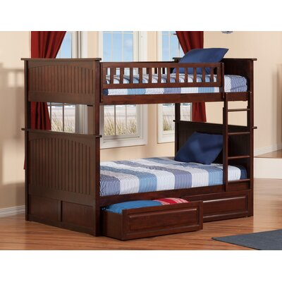 Maryellen Bunk Bed with Storage Size: Full over Full, Color: Caramel Latte