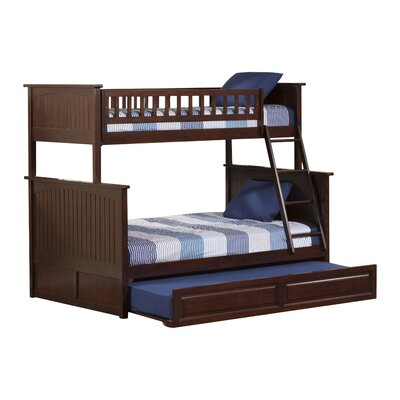 Maryellen Bunk Bed with Trundle Configuration: Full over Full, Finish: Antique Walnut