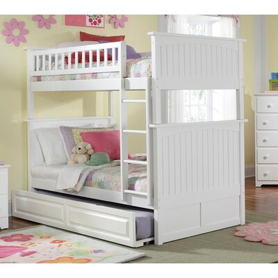 Maryellen Bunk Bed with Trundle Configuration: Full over Full, Finish: White