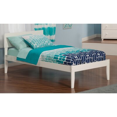 Mathias Extra Long Twin Panel Bed Finish: White