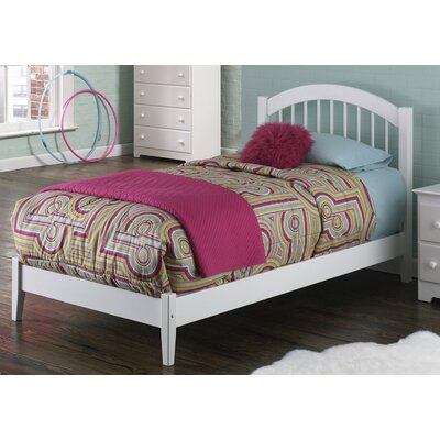 Chaplin Platform Bed Size: Twin XL, Color: White