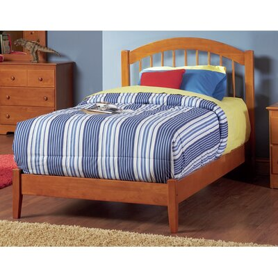 Matt Panel Bed Finish: Caramel Latte, Size: Full