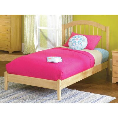Matt Panel Bed Size: Twin XL, Finish: Natural