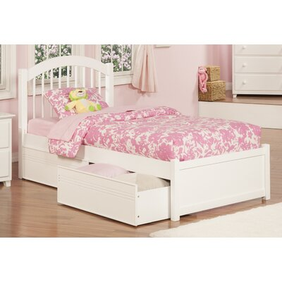 Chaplin Storage Platform Bed Size: Twin, Color: White
