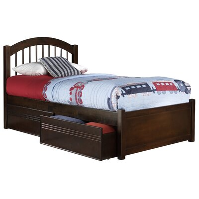 Chaplin Storage Platform Bed Size: Twin, Color: Walnut