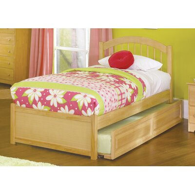 Matt Panel Bed with Trundle Size: Full, Finish: Natural