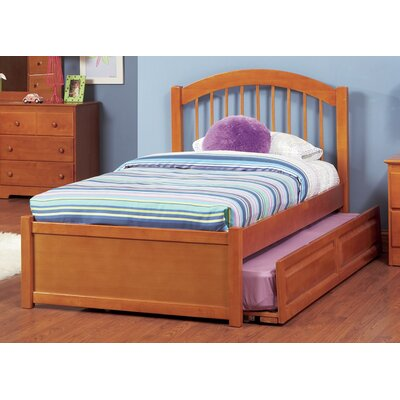 Matt Panel Bed with Trundle Size: Twin, Color: Caramel Latte VVRO4725 32350524