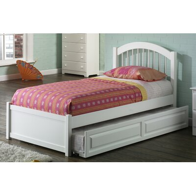Matt Panel Bed with Trundle Size: Full, Finish: White