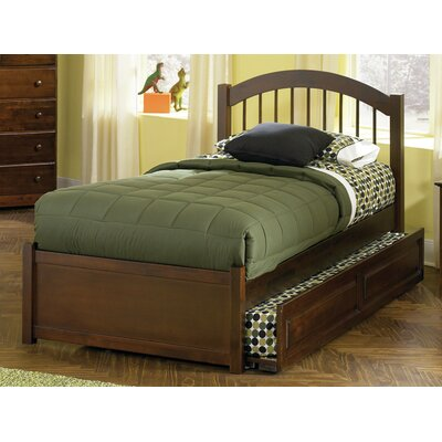 Matt Panel Bed with Trundle Size: Twin, Finish: Walnut