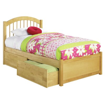 Matt Storage Platform Bed Finish: Natural, Size: Queen