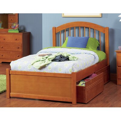 Matt Storage Panel Bed Size: Full, Finish: Caramel Latte