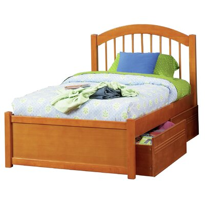 Matt Storage Platform Bed Finish: Caramel Latte, Size: Twin