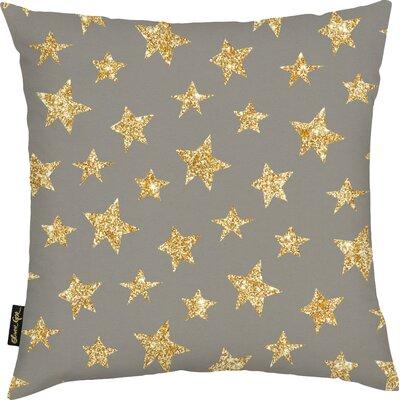 Shelia Gold Stars Pattern Throw Pillow