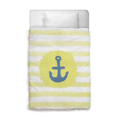 Shelia Anchor Duvet Cover Size: Queen