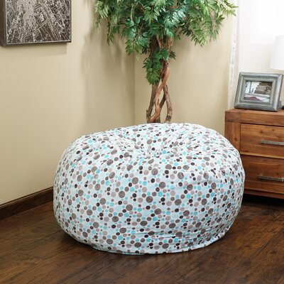 Polka Dots Bean Bag Chair Upholstery: Topaz