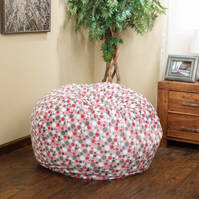 Polka Dots Bean Bag Chair Upholstery: Watermelon