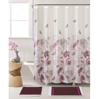 Humberto 3 Piece Shower Curtain Set