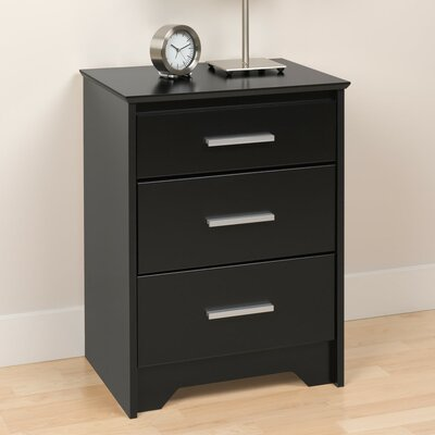 Oleanna 3 Drawer Night Stand Finish: Black