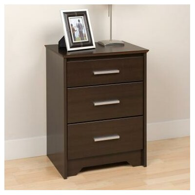 Oleanna 3 Drawer Night Stand Finish: Espresso
