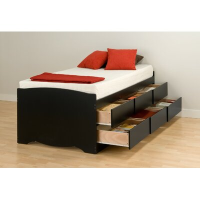 Letha Twin Captain Bed with Storage