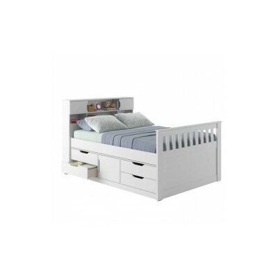 Michelle Full/Double Storage Platform Bed Finish: Snow White