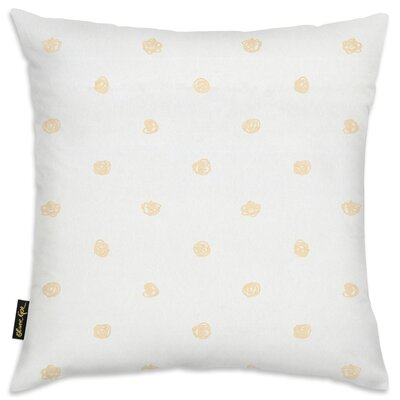 Shelia Beige Dot Pattern Throw Pillow